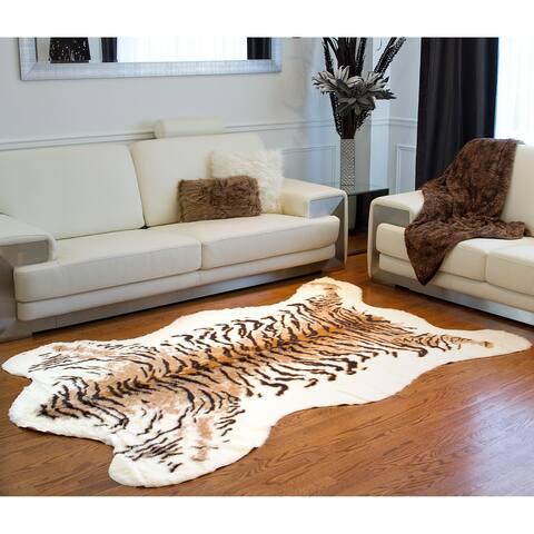 Carbon Loft Alzayyat Tiger Print Faux Cowhide Area Rug - 5'3 x 7'6