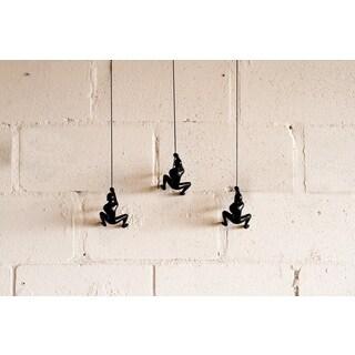 NA Black Resin Climbing Boy Wall Sculptures (Set of 3)