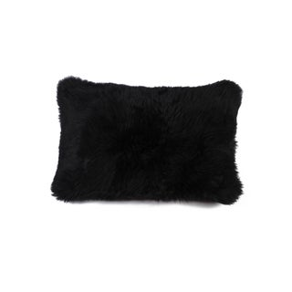 Black Natural 100% New Zealand Sheepskin Pillow