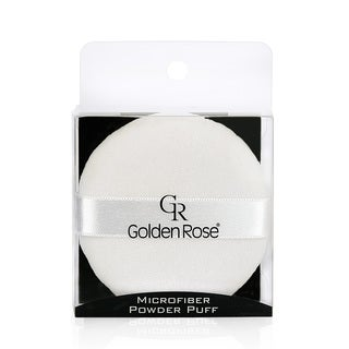 Golden Rose 3-inch Microfiber Powder Puff with Ribbon