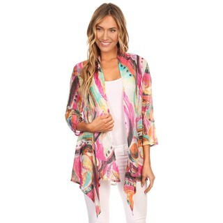 High Secret Women's Multicolor 3/4-Sleeves Lightweight Cardigan (3 options available)