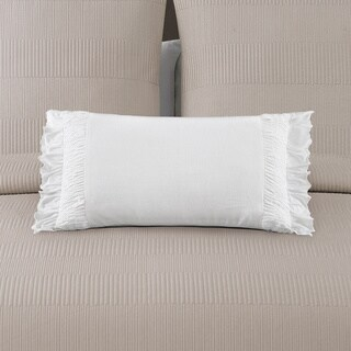 Echelon Home Montauk White Decorative Throw Pillow