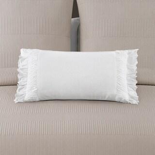 Echelon Home Montauk White Decorative Throw Pillow