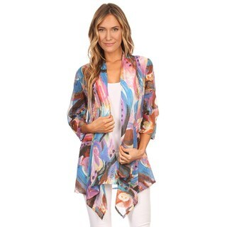 High Secret Women's Bold Print 3/4-sleeves Cardigan
