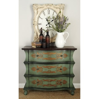 Distressed Antique Green 3-drawer Wood Dresser
