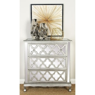 3-drawer Moroccan Mirrored Wood Dresser
