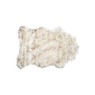 Luxe Gordan Brown Acrylic Faux Sheepskin Rug (2' x 3')