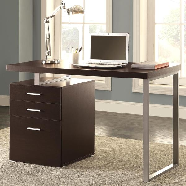 modern design home office cappuccino writing computer desk with