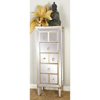 8-drawer Champagne Wood Mirror Dresser