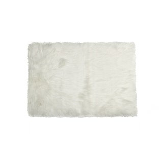 Luxe Hudson Off-white Faux Sheepskin Rug