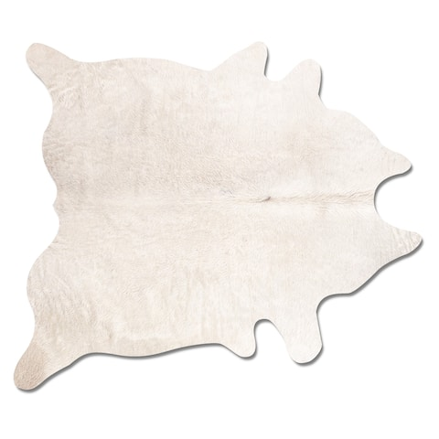 Geneva Natural Off-white Cowhide Area Rug (6' x 7') - 6' x 7'