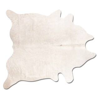 Geneva Natural Off-white Cowhide Area Rug (6' x 7')