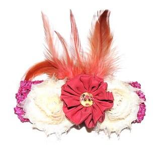 Shabby Chic Flower Headband