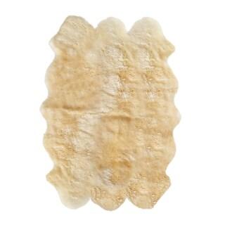 New Zealand Sheepskin Gold Sexto Rug (5' x 6') - 5' x 6'