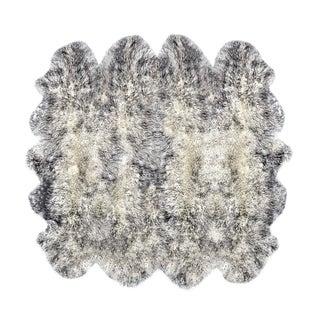 New Zealand 100-percent Natural Grey Sheepskin Rug (6' x 6')