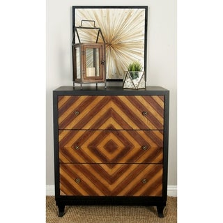 3-drawer Diamond Wood Dresser