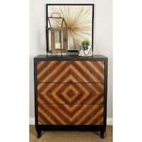 3-drawer Diamond Wood Dresser