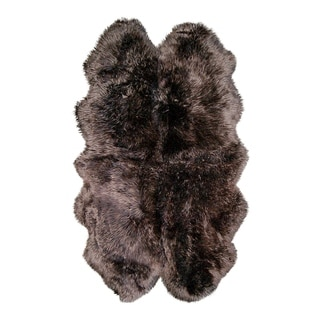 Chocolate Brown Natural New Zealand Sheepskin Rug (3'9x6')