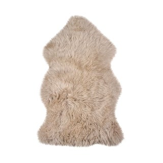 New Zealand Taupe Sheepskin Throw Rug (2' x 3')