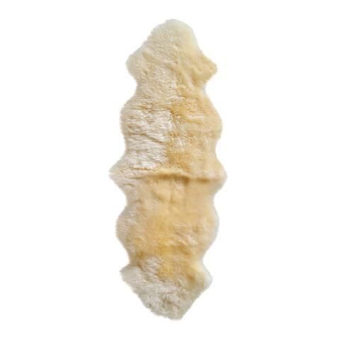 New Zealand Sheepskin Gold Double Rug/Throw (2' x 6') - 2' x 6'