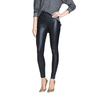 Minkpink Women's Out of this World Black Faux Leather Leggings