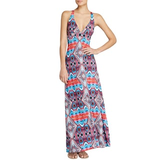PilyQ Mumbai Parker Multicolored Polyester Maxi Dress Cover-up