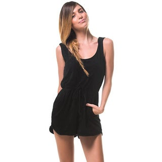 Minkpink Women's Whisper Black Terry Romper Playsuit