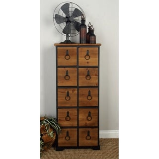 19 x 45 Rustic Wood Cabinet with 10 Drawers by Studio 350