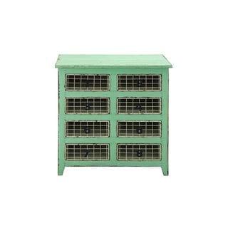 8-drawer Wood Metal Basket dresser