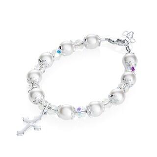 Luxury sterling silver christening bracelet