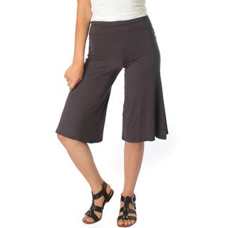 Fold Over Gaucho Capri Pants