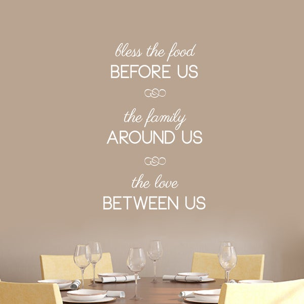 Shop Bless The Food Before Us Wall Decals 22 Quot Wide X 36