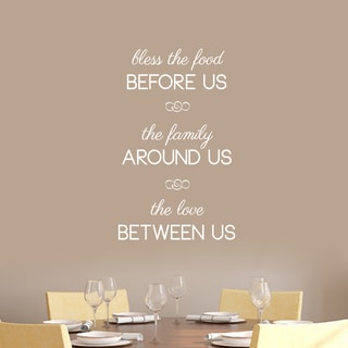 "Bless The Food Before Us Wall Decals - 22"" wide x 36"" tall"