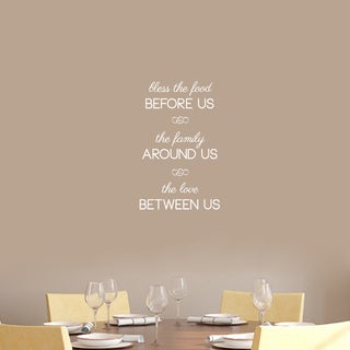 "Bless The Food Before Us Wall Decal - 15"" wide x 24"" tall"