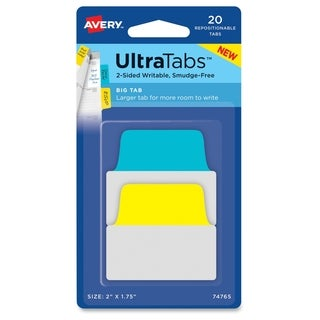 Avery Ultra Margin Tabs - Primary Asst (20/Pack)