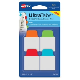 Avery Ultra Mini Tabs - Primary Asst (80/Pack)