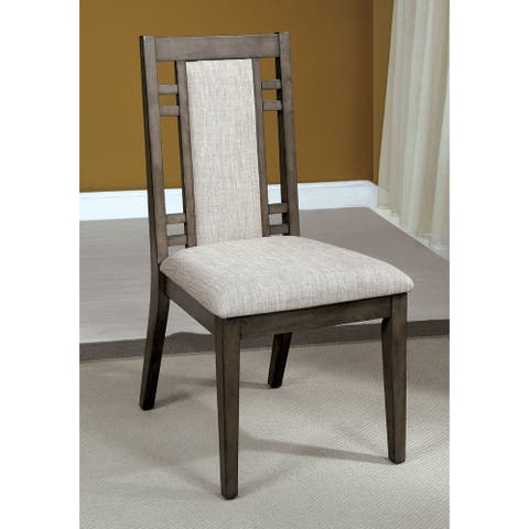 Furniture of America Mosa Transitional Grey Dining Chairs (Set of 2)