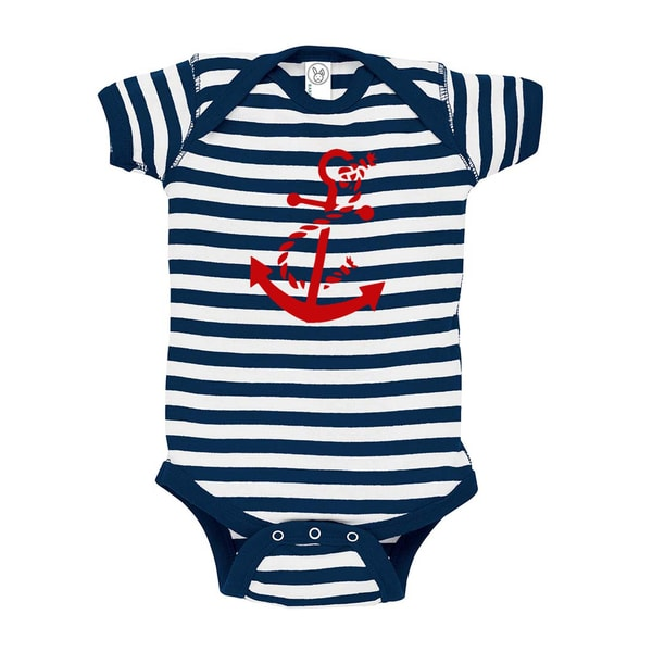 Rocket Bug Nautical Anchor Cotton Baby Bodysuit
