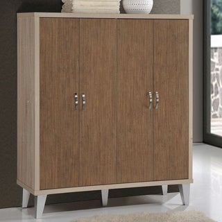 Transcontinental Eastwest Brown Wood Wardrobe