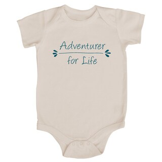 Rocket Bug 'Adventurer for Life' Cotton Baby Bodysuit (5 options available)