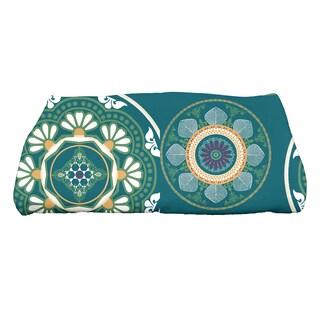 28 x 58-inch Medallions Geometric Print Bath Towel