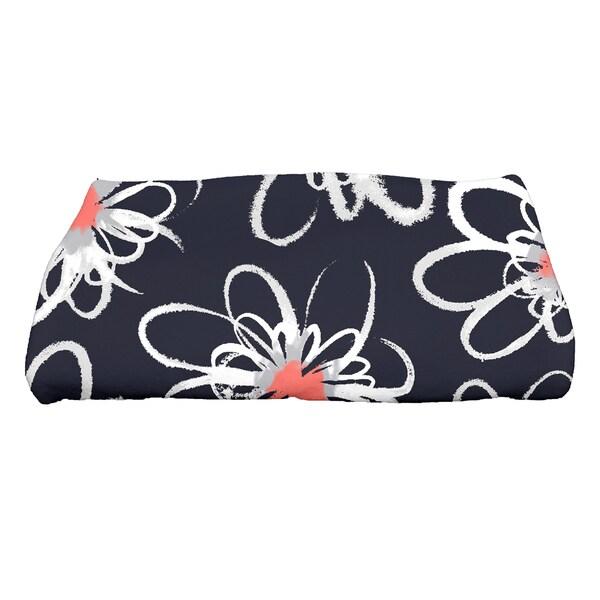 28 x 58-inch Penelope Floral Geometric Print Bath Towel