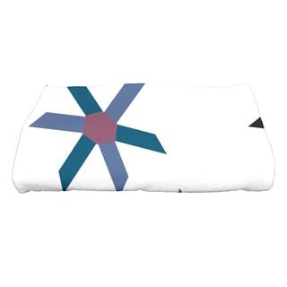 28 x 58-inch Pinwheel Pop Geometric Print Bath Towel