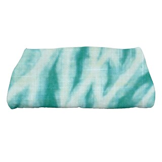 28 x 58-inch Shibori Stripe Geometric Print Bath Towel