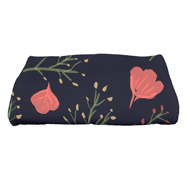 28 x 58-inch Spring Blooms Floral Print Bath Towel