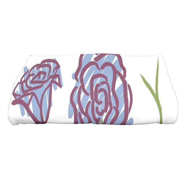 28 x 58-inch Spring Floral 1 Floral Print Bath Towel