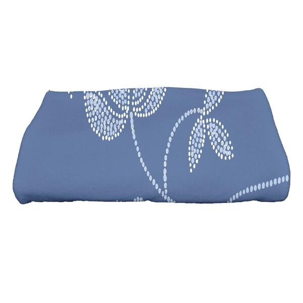 30 x 60-inch Traditional Flower-Single Bloom Floral Print Bath Towel