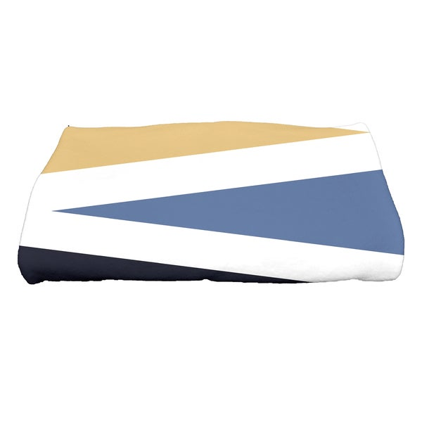 28 x 58-inch Backgammon Geometric Print Bath Towel