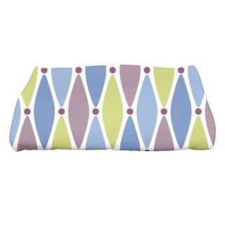 28 x 58-inch Wavy Splash Geometric Print Bath Towel