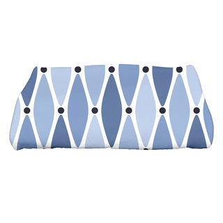 28 x 58-inch Wavy Geometric Print Bath Towel